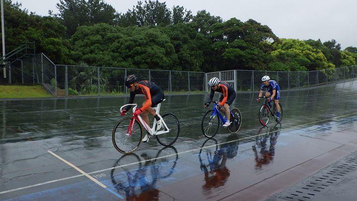 雨のみやざき県民体育祭 自転車トラック競技!
